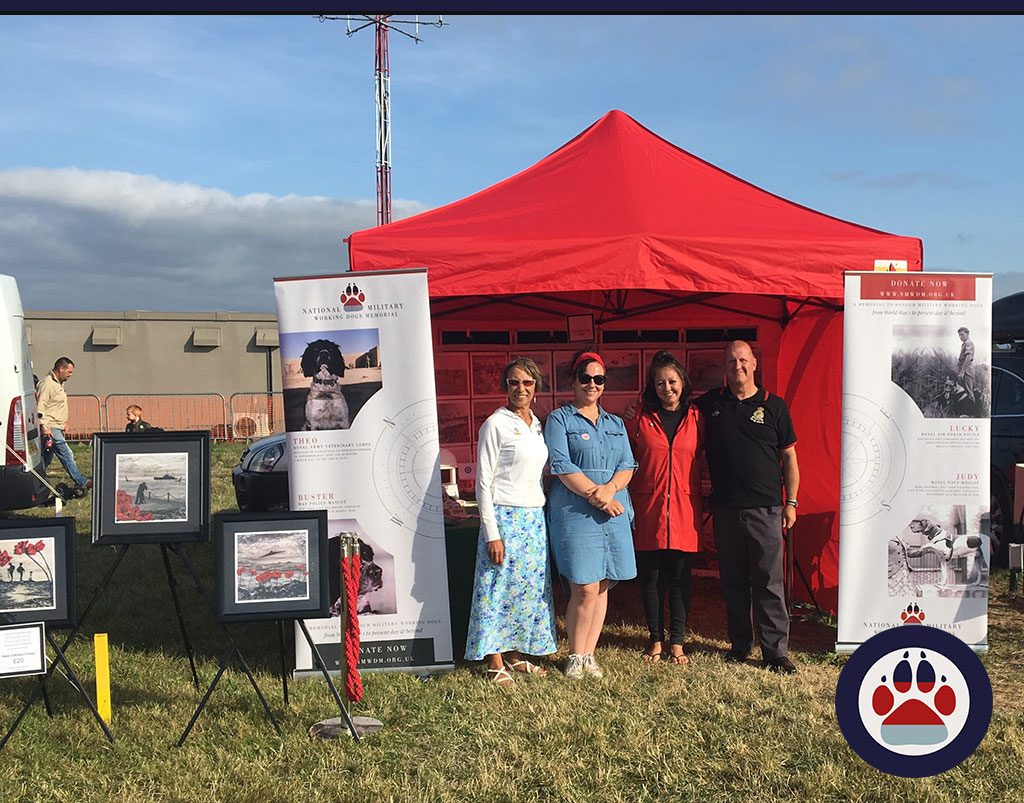 National Military Working Dogs Memorial (UK) attend Biggin Hill Air Show in August 17th & 18th to raise awareness and funds.