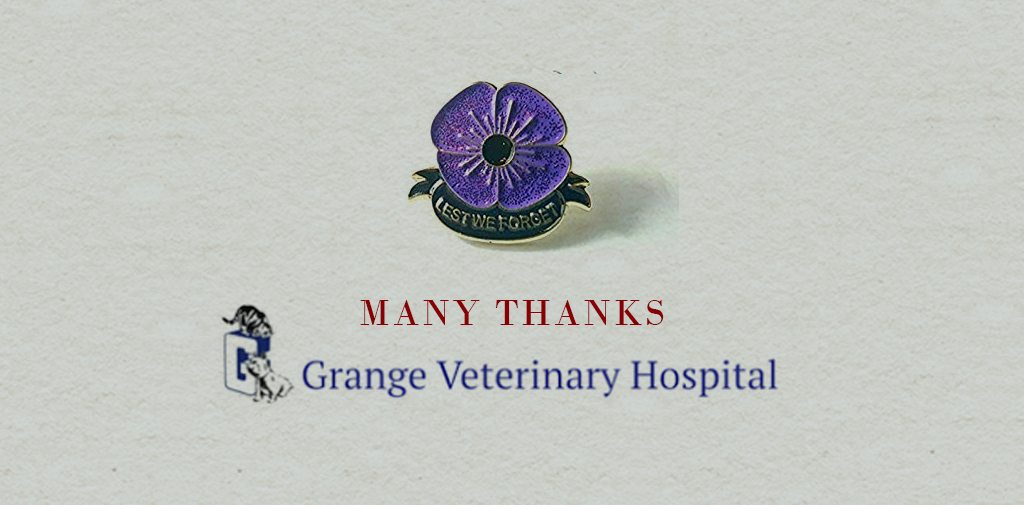 Grange Veterinary Hospital donates £250