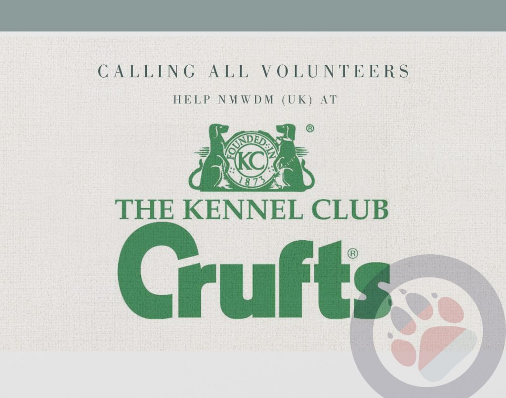 The National Military Working Dogs Memorial charity have put a call out for Volunteers needed to help at Crufts, March 2019.