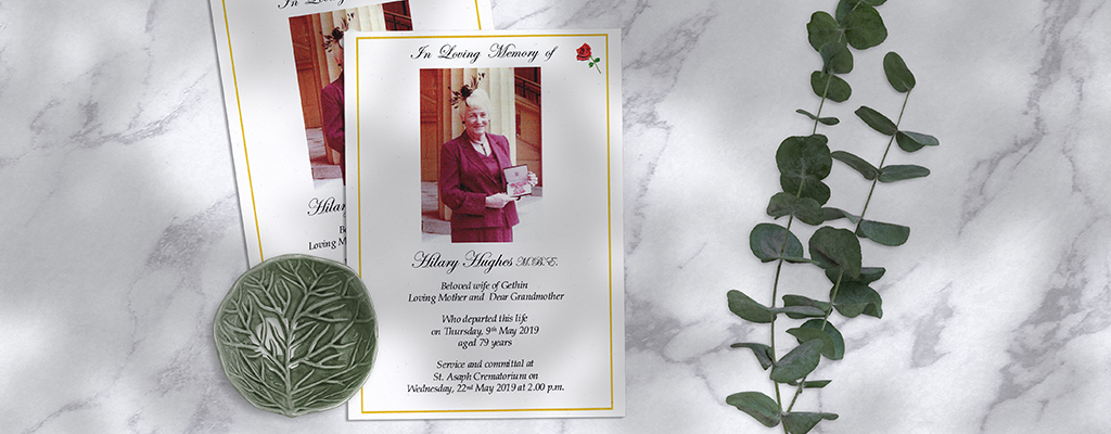 In memory of Hillary Hughes MBE