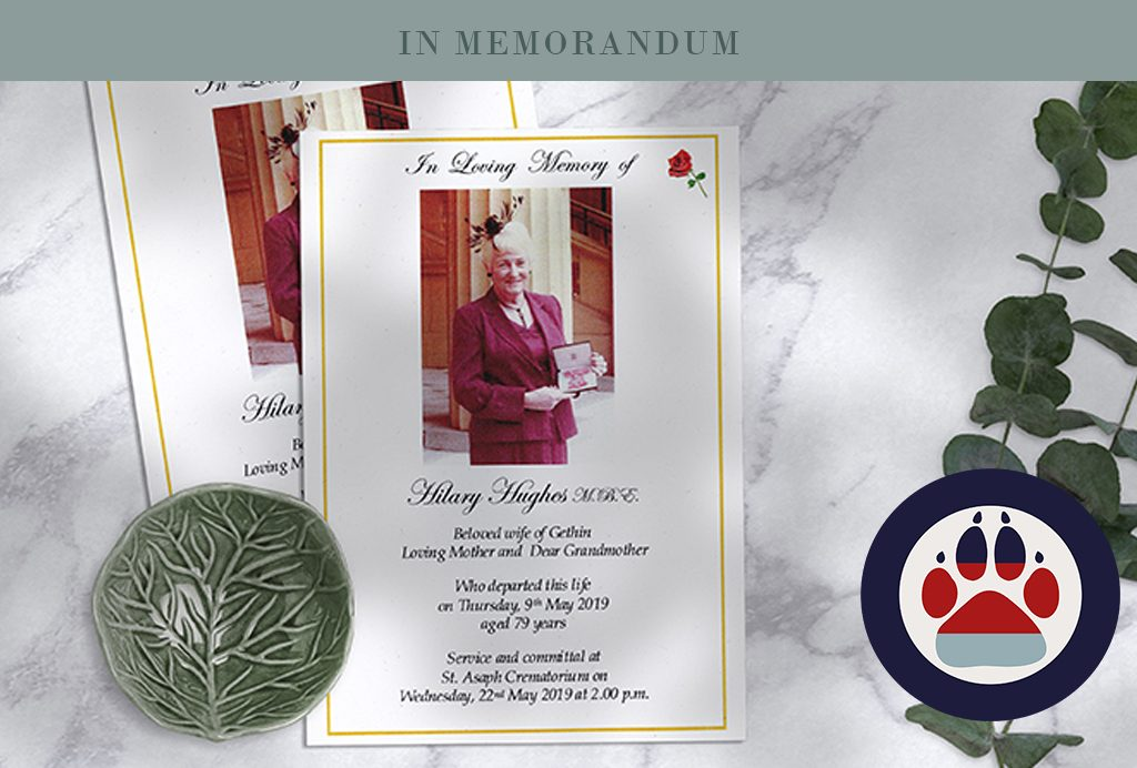 In loving memory of Hillary Hughes MBE